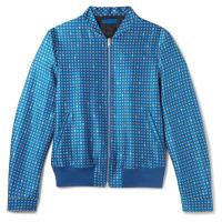 Alexander McQueenPrinted Wool And Silk-blend Twill Bomber Jacket - Blue