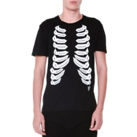 Alexander McQueenRibcage-Print Short-Sleeve Jersey T-Shirt, Black