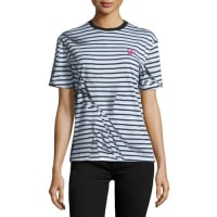 Alexander McQueenShort-Sleeve Classic Striped Tee, Black/White