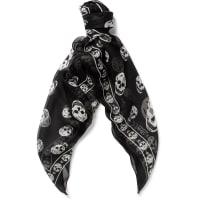 Alexander McQueenSkull-patterned Silk Scarf - Black