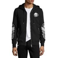 Alexander McQueenSkull Zip-Front Hoodie, Black