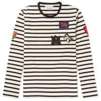 Alexander McQueenSlim-fit Appliquéd Striped Cotton-jersey T-shirt - White
