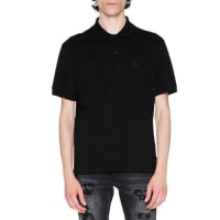 Alexander McQueenTonal-Patch Piqué Polo Shirt, Black
