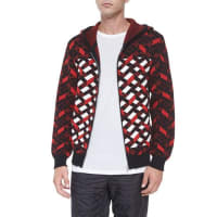 Alexander WangFair Isle Jacquard Stripe Zip Jacket, Black