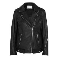 Alexander WangOversized Leather Biker Jacket - Black