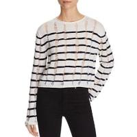 Alexander WangT by Alexander Wang Stripe Crop Sweater