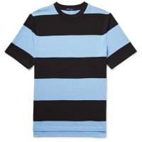 Alexander WangT By Alexander Wang Striped Cotton-jersey T-shirt - Light blue