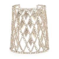 Alexis BittarCrystal-Encrusted Spiked Lattice Cuff Bracelet