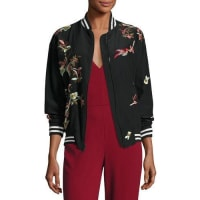 Alice & OliviaLila Embroidered Bomber Jacket, Multicolor