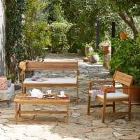 AlinéaDomino Jardin Salon de jardin en acacia (3 places)