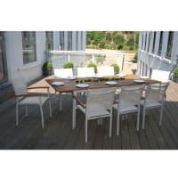 AlinéaMontreal Jardin Table de jardin extensible 200/300cm en aluminium et eucalyptus
