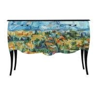 AlinéaPrint Baroque - Cezanne Grande commode à 2 tiroirs - Imprimé Tableau de Maître