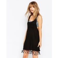 All About EveFringe Frenzie Beach Dress - Black