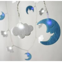 All Things Brighton BeautifulBattery Felt Cloud And Moon String Lights