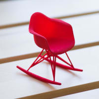 Alminty3D3D Printed Miniature Eames Rocker ChairRed