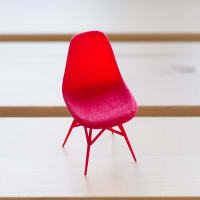 Alminty3D3D Printed Miniature Eames Side ChairRed
