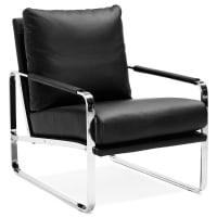 AlteregoFauteuil lounge GEORGE noir confortable