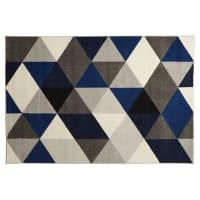 AlteregoTapis design GRAFIK 160/230 cm avec motifs graphiques bleus