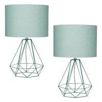 AmalfiEmpire Mint Table Lamp (Set of 2)