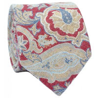 Amanda ChristensenTie Italy Spring Collection - Red Paisley 153032-4