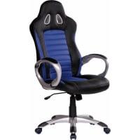 AmstyleChefsessel »Racer«, blau, blau/schwarz