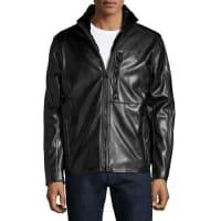 Andrew MarcGilead Faux-Leather Jacket, Jet Black