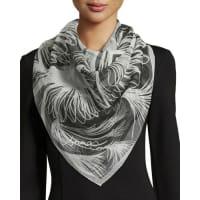 Anna CoroneoMajorelle Classic Silk Square Scarf, Black/White
