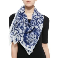 Anna CoroneoWooster Printed Silk Square Scarf
