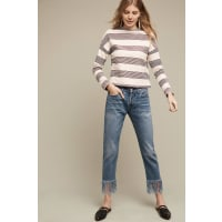 Anthropologie3x1 NYC High-Rise Straight Cropped Fringe Jeans