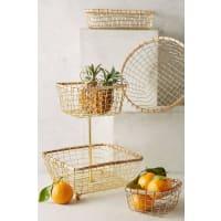 AnthropologieBrushed Wire Kitchen Baskets