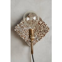 AnthropologieCarved Wood Sconce