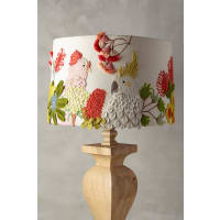 AnthropologieEmbroidered Cockatoo Lamp Shade