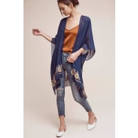 AnthropologieEmbroidered Multiway Kimono