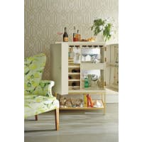 AnthropologieLacquered Bar Cabinet