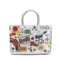 Anya HindmarchEbury Maxi All Over Wink Sticker Shopper Bag, Silver/Multi