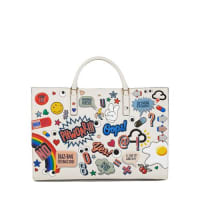 Anya HindmarchEbury Sticker-Print Leather Tote Bag