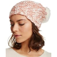 AquaRibbed Slouchy Hat with Rabbit Fur Pom-Pom - 100% Bloomingdales Exclusive