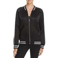 AquaSequin Stripe Bomber Jacket