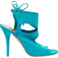 AquazzuraPre-Owned - Turquoise Suede High heel