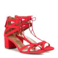 AquazzuraBeverly Hills 50 suede sandals