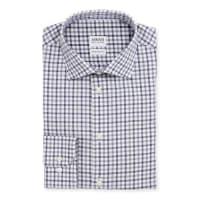 ArmaniModern Fit Bold-Check Dress Shirt, Gray