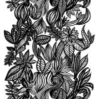 Arvidssons TextilDoodle stoff hvit-sort