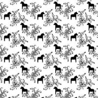 Arvidssons TextilKurbits tyg svart-vit