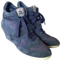 AshSneakers Veloursleder Blau - aus zweiter Hand