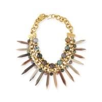 Ashley PittmanKali Mixed Horn Beaded Spike Necklace