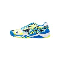 AsicsGELRESOLUTION 7 L.E.MELBOURNE Scarpe da tennis outdoor white/diva blue/safety yellow