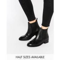 AsosATTRIBUTE Leather Chelsea Ankle Boots - Black