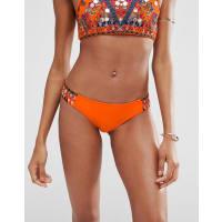 AsosMirror Embroidered Tanga Bikini Pant - Orange