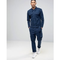 AsosBoiler Suit With Cargo Pockets In Navy - Navy