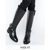 AsosCAREY - Stivali al ginocchio a pianta larga - Nero